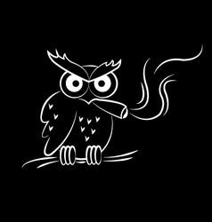 Owl Smoking vector