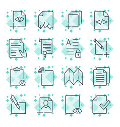 paper icons document icons eps10 vector image