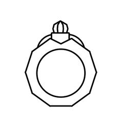 pictogram jewelry ring bride icon design vector image