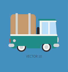 plain flat color icon service staff car vector image