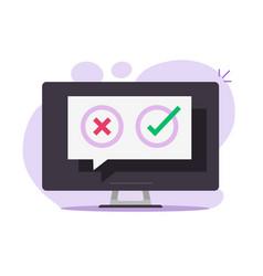 Poll vote digital quiz online message chat bubble vector