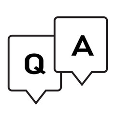 Question and answer glyph icon on white vector