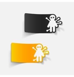 realistic design element voodoo Doll vector image