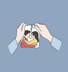 Relationship crisis broke up concept vector