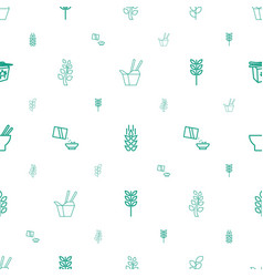 rice icons pattern seamless white background vector image