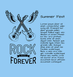 rock music forever summer fest vector image