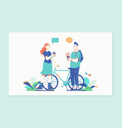 romantic couple spending time or relaxing together vector image