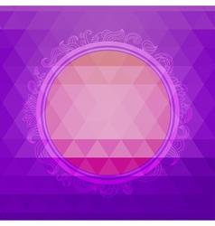 Round design element on a triangular background vector