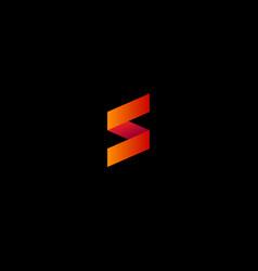 S origami logo vector