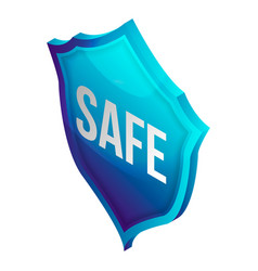 safe shield icon isometric style vector image