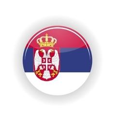 Serbia icon circle vector image