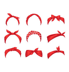 Set retro headbands for woman collection of vector