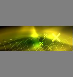shiny neon lights background techno design vector image