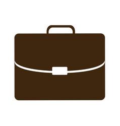 Silhouette briefcase executive icon flat vector