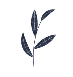 simple icon natural leaf eps10 vector image