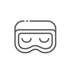 Sleep mask line icon vector