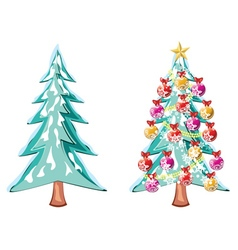 Snowy christmas tree4 vector