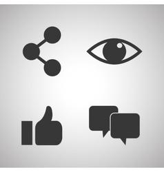 Social media icon set design vector