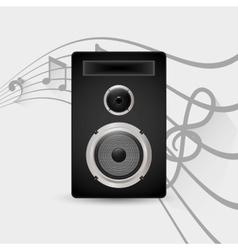 Speaker music sound vector image