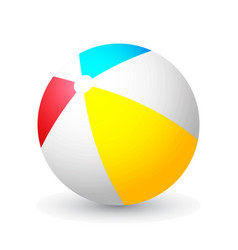 summer colored rubber inflatable beach ball vector image