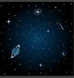 the universe scene vector image