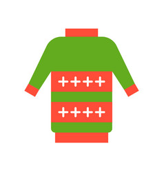 ugly sweater merry christmas icon set flat design vector image