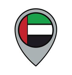 United arab emirates location pin vector