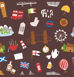 United kingdom great britain travel tourism vector