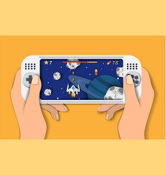 video console games flat style design vector image