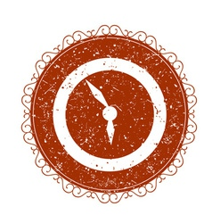 Vintage sign with clock vector