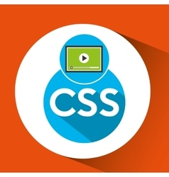 Web development video player css vector