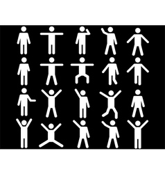 White human pictograms vector