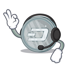 With headphone dash coin character cartoon vector