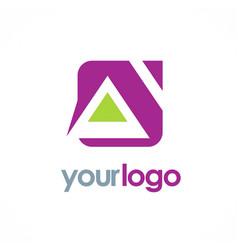 home shape triangle logo vector image
