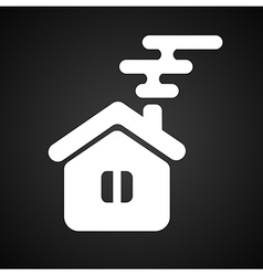 Isolated house symbol vector image