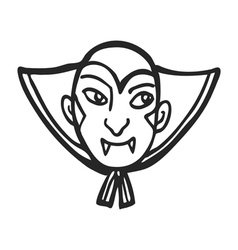 vampire face doodle vector image vector image