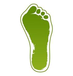 Old man green foot print vector image vector image