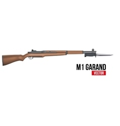 Rifle M1 Garand with knife bayonet vector image