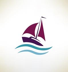 yacht symbol regatta concept vector image vector image