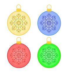 Christmas balls rosette christmas trimmings vector image vector image