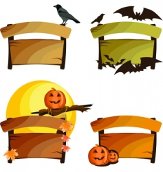 Halloween signs vector image vector image