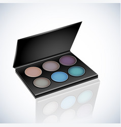 makeup cosmetics eyeshadow palette vector image