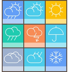 Weather sign vector image