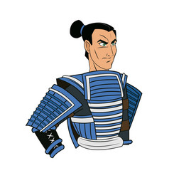animation warrior man samurai to ancient clothes vector image vector image