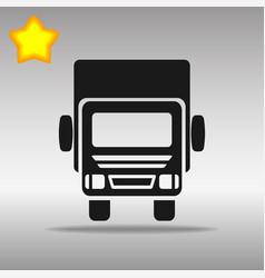 black truck lorry icon button logo symbol concept vector image