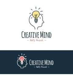 cartoon style brain training logo Hand vector image vector image