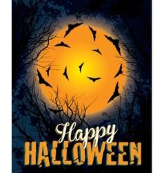 Halloween night background text vector image