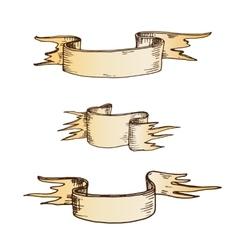 Hand drawn ribbons vector image