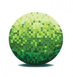 mirror ball vector image vector image