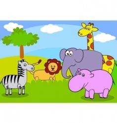 safari wildlife vector image vector image